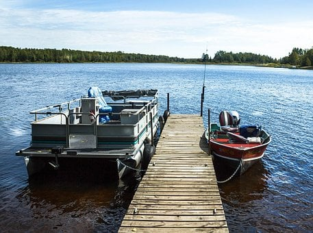 Pontoon Boat, Fishing Boat, Motorboat, Lake, Minnesota