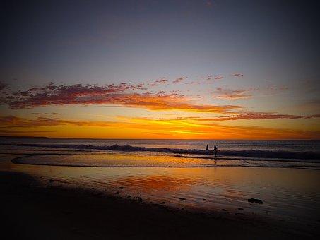 Adelaide, Moana Beach, Beach Sunset, Australia