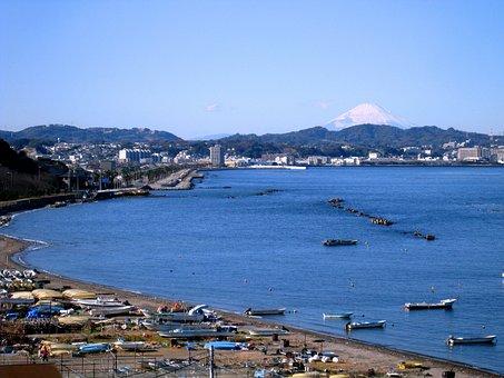 Fuji, Mt Fuji, Hashirimizu, Ise-cho, Fishing Boat, Otsu
