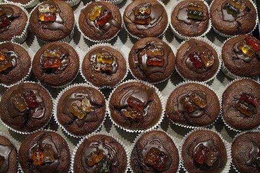 Muffins, Schokomuffins, Schokoladenmuffins, Decorated