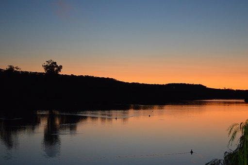Murray River, Sunset, South Australia