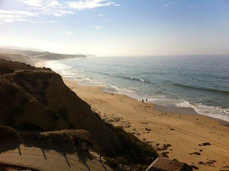 Ocean, Beach, Morning, Mist, Couple, California
