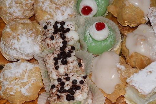 Pastries, Small Cakes, Sweet, Delicious, Calories