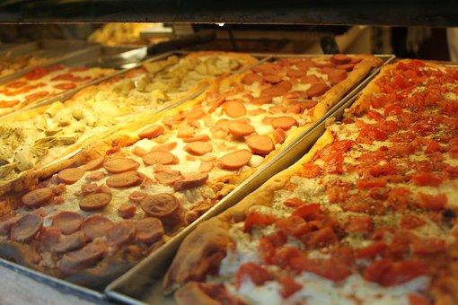Pizzas, Peperoni, Food, Sliced, Italian, Tasty, Meal