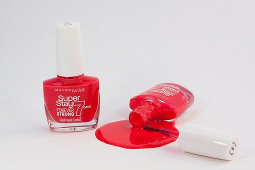 Nail Varnish, Red, Paint, Fell Down, Phased Out