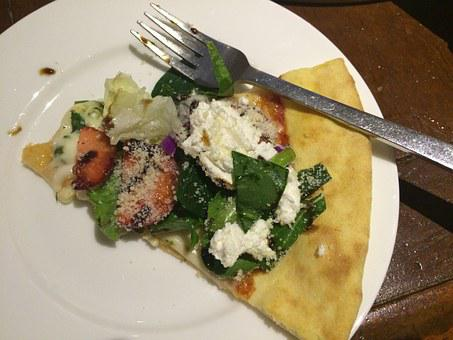 Pizza, Salad Pizza, Ricotta Cheese