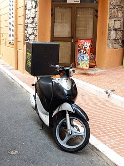 Pizza Service, Pizza Supplier, Motorcycle, Delivery