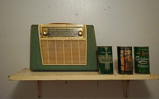 Portable Radio, Radio, 50s, Music, Nostalgia, Retro