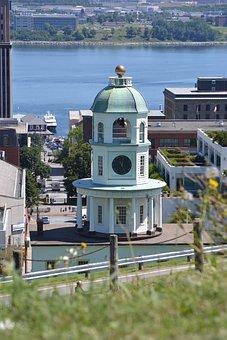 Clock, Tower, Historic, Halifax, Canada, Nova, Scotia