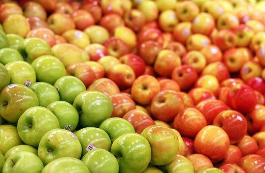Apple, Apples, Green, Red, Selection, Super, Market