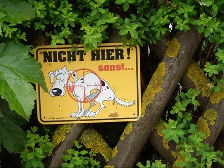 Prohibitory, Dog Ban, Dog, Shield, Ban, Fence