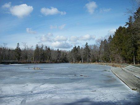 Shubie Park, Winter, Nova Scotia, Canada