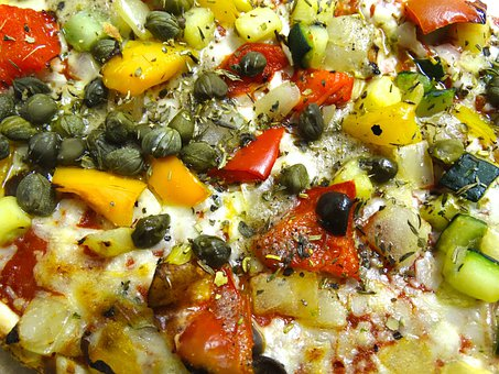 Pizza, Vegetables, Spices, Food, Italian