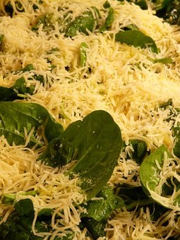 Cheese, Spinach, Topping, Gauda, Edam, Pizza