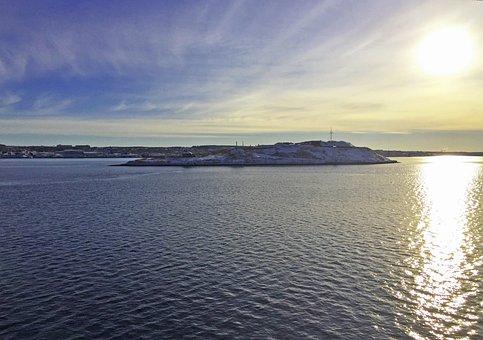Halifax, Nova Scotia, Harbour, Georges Island, Sun
