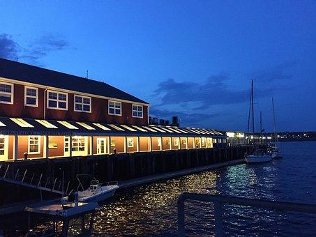 Halifax, Waterfront, Boardwalk, Restaurant, Building