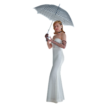 Wedding Dress, Bride, Umbrella, Fashion, Style, Elegant