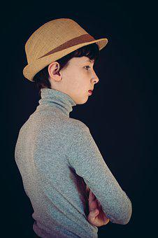 Boy, Teen, Face, Person, Expression, Vintage, Retro