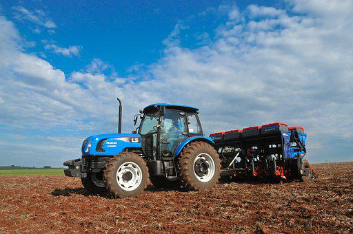 Tractor, Planting, Agriculture, Field, Farm