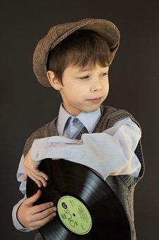 Boy, Fashion, Vinyl Record, Kid, Child, Young, Model