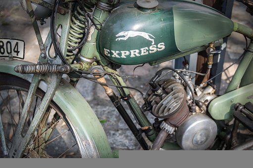 Motorcycle, Engine, Old, Motorcycle Tank, Suspension