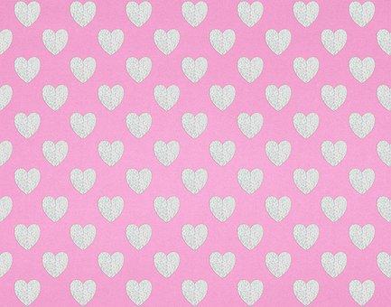Hearts, Paper, Pattern, Digital Paper, Scrapbooking