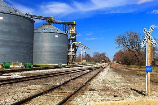 Train Tracks, Tracks, Rails, Railroad, Bins, Transport