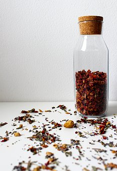 Dried Petals, Roses, Bottle, Flowers, Dried Flowers