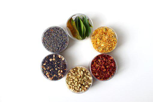Dried Petals, Dried Leaves, Containers, Dried Flowers