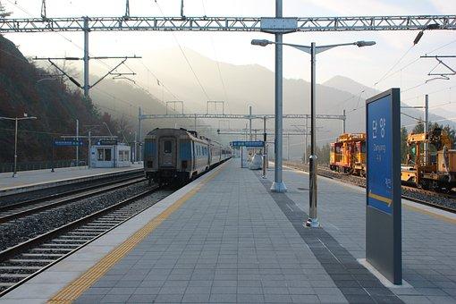 Korea, Railway, Train, Train Station, Station, Danyang