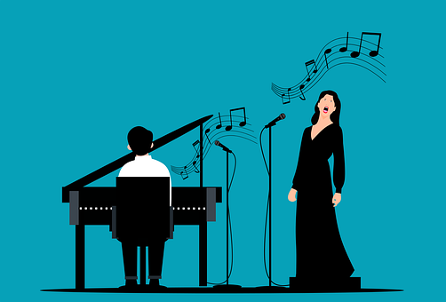 Piano, Pianist, Singer, Jazz, Music, Concert, Band