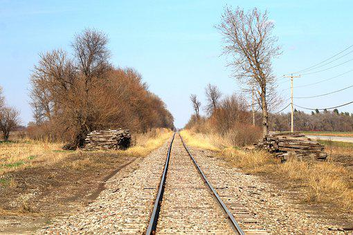 Tracks, Train, Railroad, Rails, Countryside, Sunny