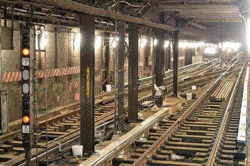 Underground, Subway, Tunnel, Train, New York City