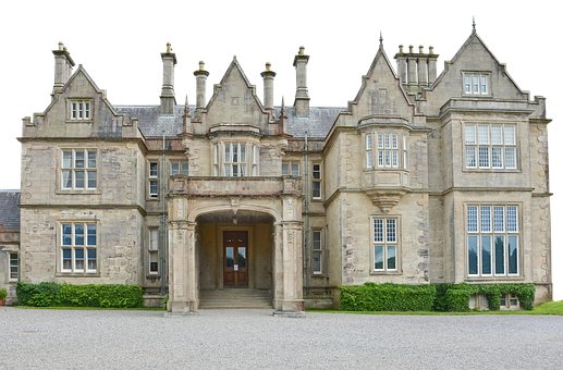 Manor House, Building, Architecture, Facade, Asphalt