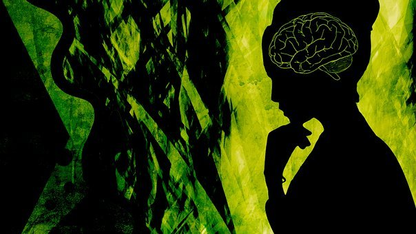 Abstract, Woman, Depression, Silhouette, Brain