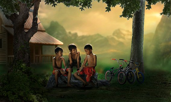 Children, Boys, Playing, Friends, Happy, Together, Kids
