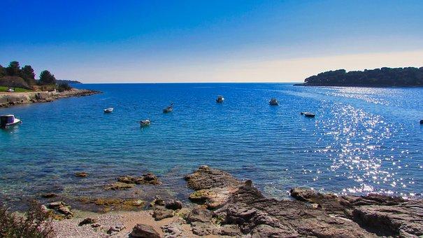 The Adriatic Sea, Croatia, Seaside, Clear Sky, Blue