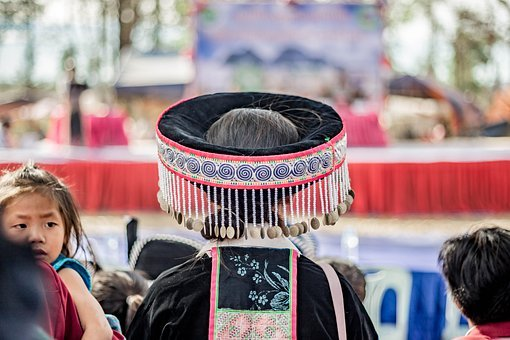 Hmong, Hat, Woman, Clothes, Traditional, Ethnic