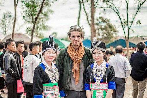 Hmong, Women, Foreigner, Man, Tourist, Girls, Costume