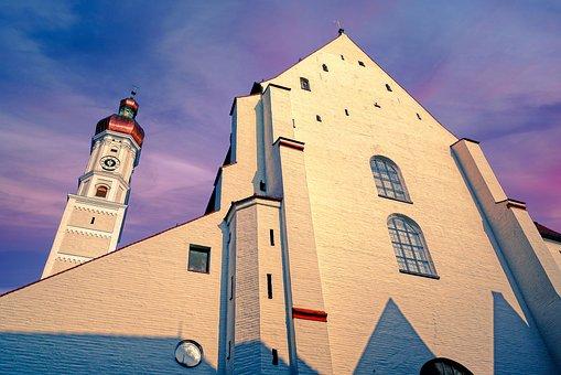 Church, Steeple, Building, Facade, Architecture
