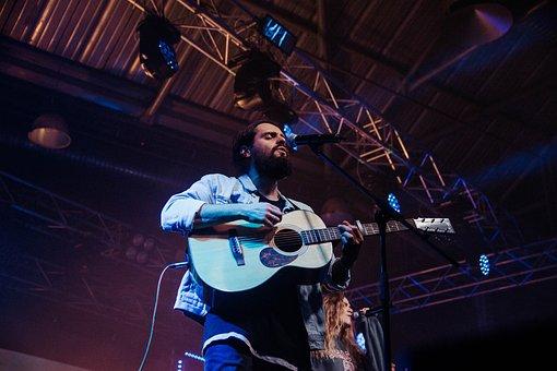 Concert, Live, Guitar, Song, Festival