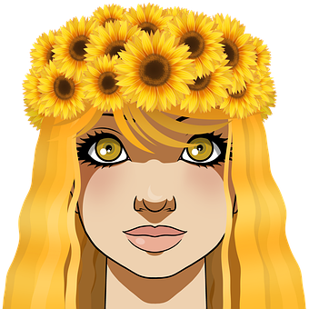 Child, Girl, Flower Crown, Headdress, Sunflower, Flower