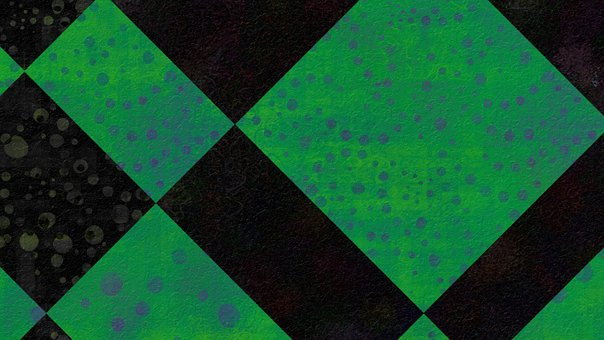 Green, Neon, Square, Checkered, Mosaic, Rectangle