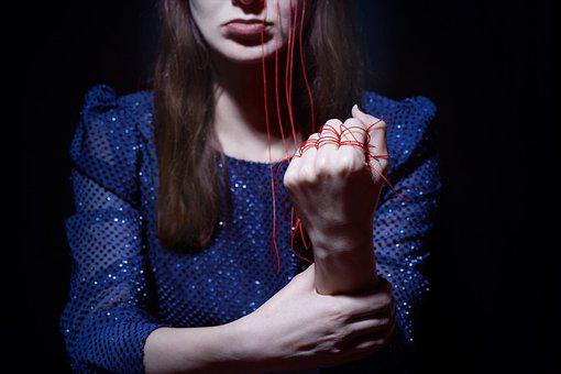 Fist, String, Woman, Red String, Tied, Hand, Arm