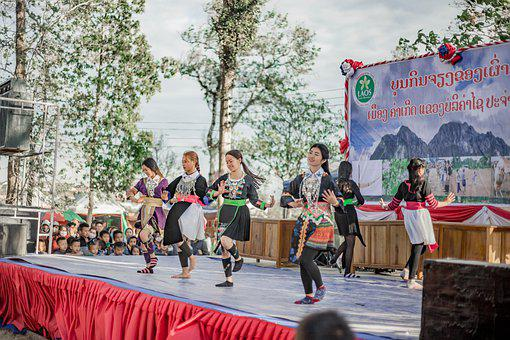 Hmong, Festival, Dance, Stage, Performance, Girls