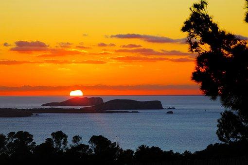 Ibiza, Sant Antony Bay, Sunset, Summer, Nature, Sky