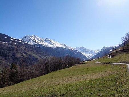 Val De Bagnes, Alps, Switzerland, Alpine, Mountain