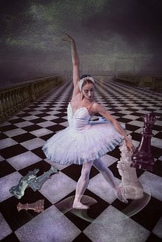 Ballerina, Dancing, Performance, Chess, Figure