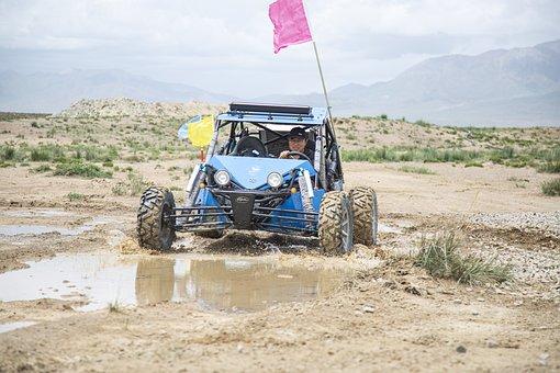 Kart, Off-road, Puddle, Water, Go-kart, Off-roading