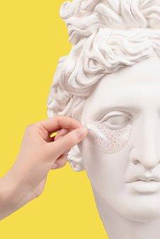 Bust, Sculpture, Eye Patch, Skincare, Beauty, Cosmetics